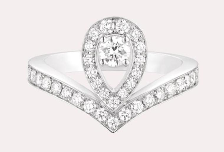 时尚大牌18k金钻指定制结婚求婚镶钻宝石金戒指MISSG珠宝厂家