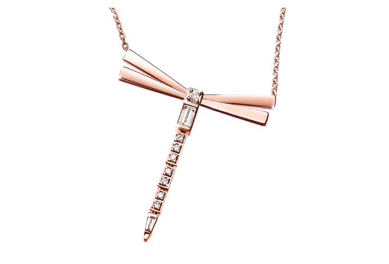 蜻蜓18K金项链玫瑰金白金吊坠定制MISSG高档珠宝生产厂家