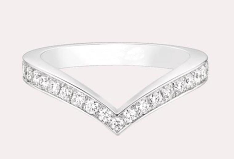 18K金钻戒玫瑰金白金时尚戒指定制MISSG高档珠宝生产厂家