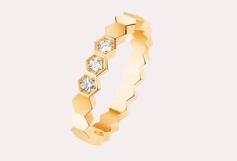 时尚钻戒18K金戒指黄金玫瑰金白金私人定制MISSG高档珠宝生产厂家