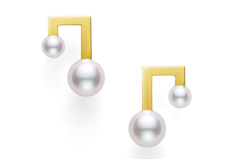 时尚18k金珍珠钻石耳环韩版韩国女款黄金玫瑰金白金耳钉加工定制MISSG高档珠宝生产厂家批发