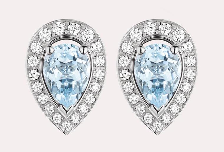 大牌18k金钻石宝石耳环女款黄金玫瑰金白金耳钉加工定制MISSG高档珠宝生产厂家批发