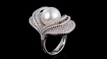 S925纯银天然淡水珍珠戒指MGR10004