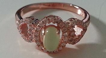 欧美风月光石戒指