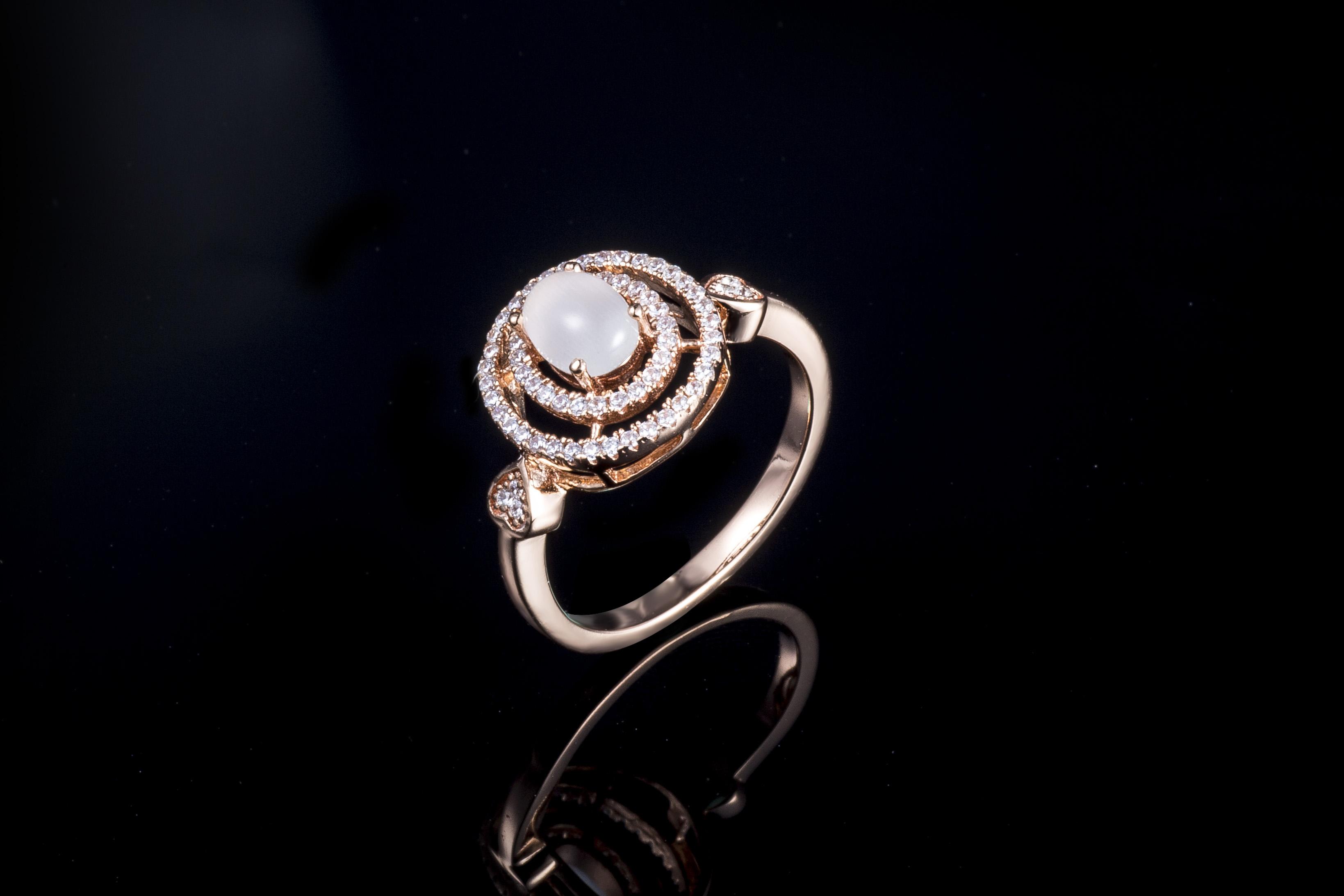 珠宝厂家代加工925纯银玉髓时尚流行戒指定制