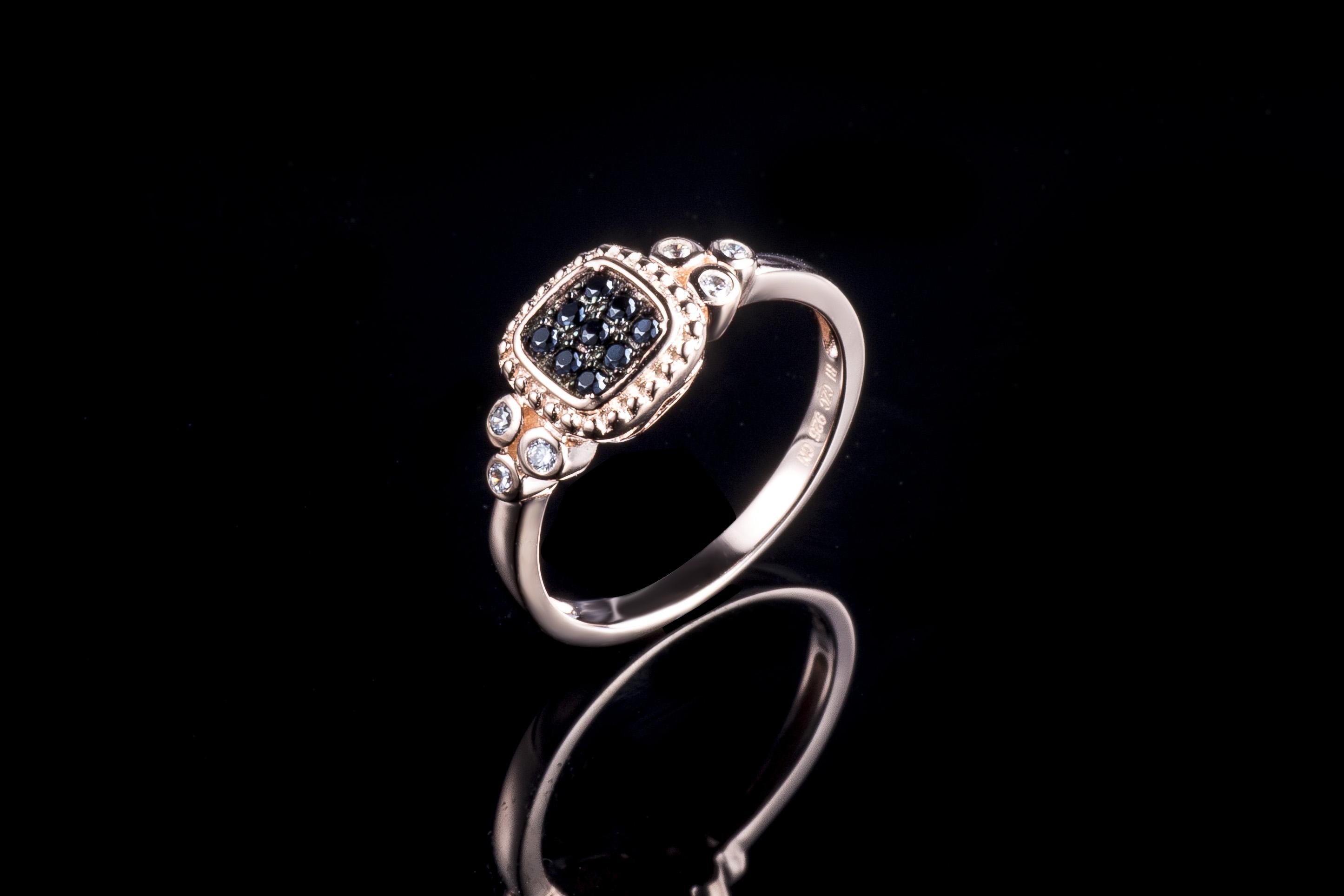首饰生产厂家 925银气质女式戒指加工定制