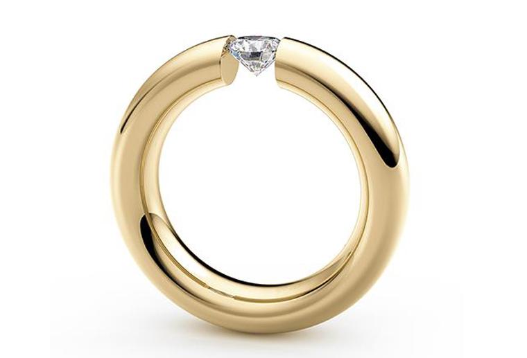 时尚男士女士情侣钻戒18K金戒指黄金玫瑰金白金私人定制MISSG高档珠宝生产厂家