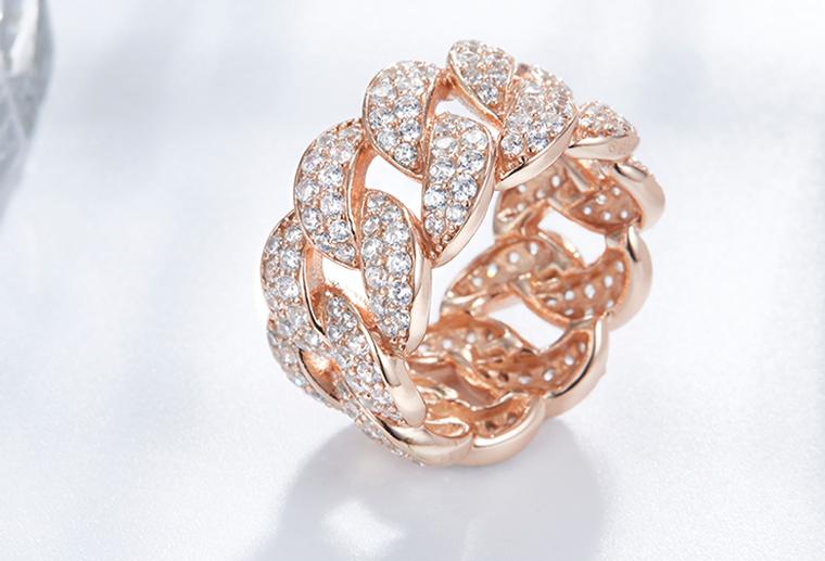网红潮人纯银戒指925银镶钻锆石曲线交叉指环missg原创首饰加工厂