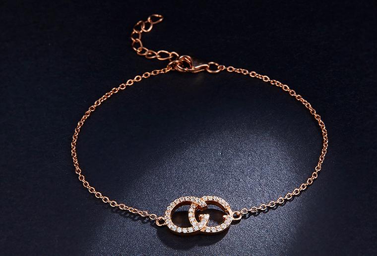 S925纯银GG字母可调节大小时尚手链女款手饰广州银饰厂家加工定制