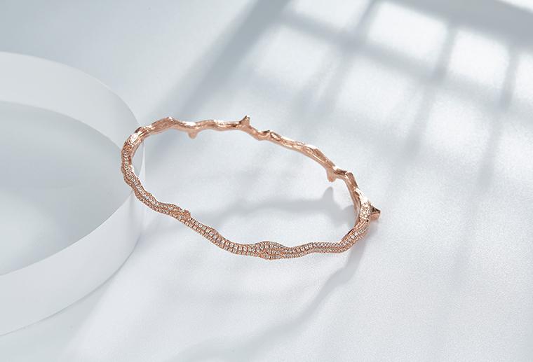 欧美大牌18K金手镯玫瑰金白金黄金手镯个性定制MISSG高档珠宝生产厂家来图来样加工