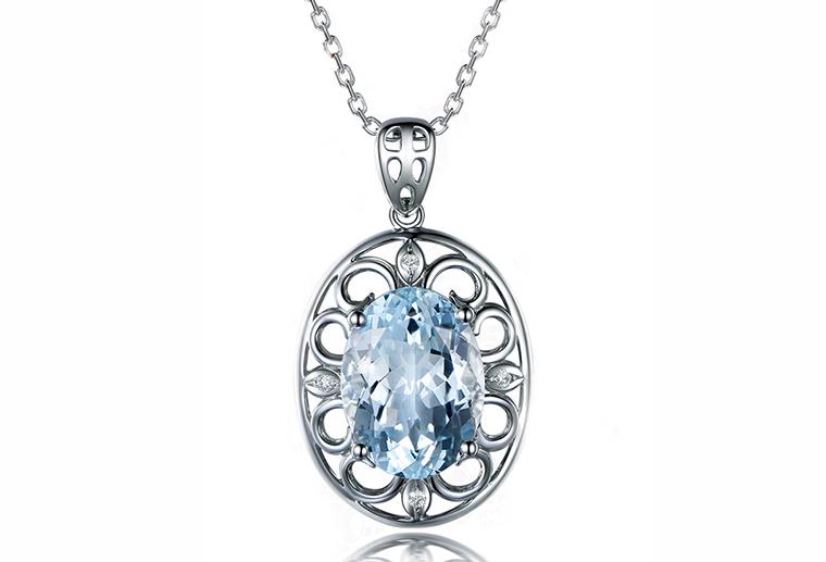 925纯银欧美时尚银饰大粒主石吊坠 广州MISSG珠宝首饰厂家批发 来图来样定制代加工