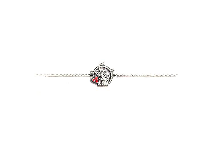 MISSG珠宝原创设计手绘爱心老鼠作品925银饰品手链加工定制首饰厂