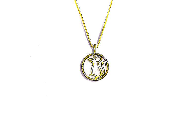 MISSG珠宝原创设计手绘可爱小老鼠作品925银饰品吊坠项链加工定制首饰厂