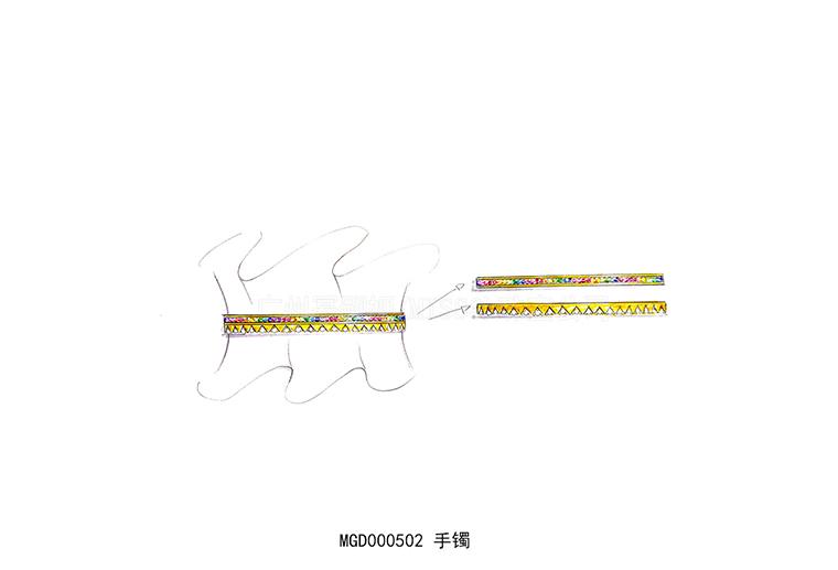 MISSG珠宝原创设计彩虹系列手环手镯S925纯银饰品加工定制首饰厂