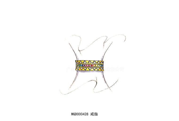 MISSG珠宝原创设计款式彩虹系列戒指S925纯银饰品加工定制首饰厂