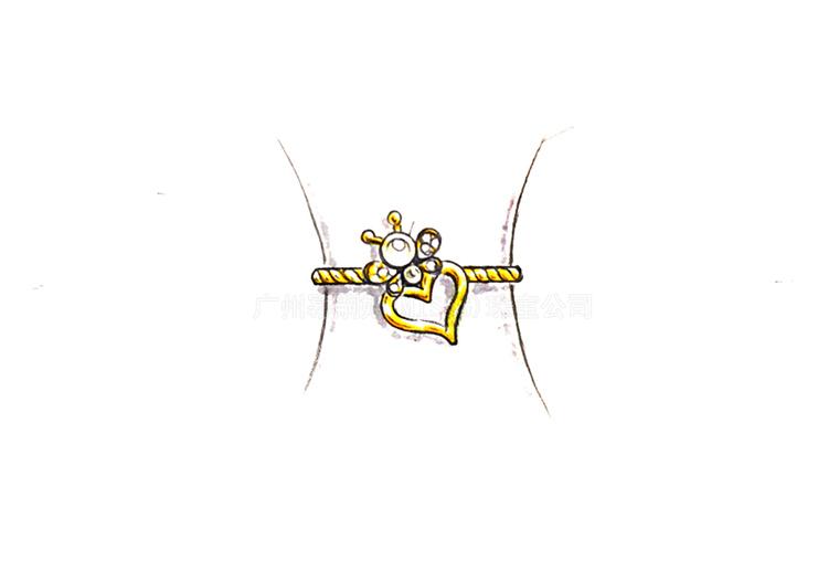 MISSG珠宝原创设计手绘稿作品花园系列爱心戒指手镯S925银饰品加工定制首饰厂 耳环 项链 手链 吊坠 胸针 工艺礼品