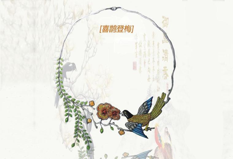 原创珠宝设计师陈典泽喜鹊登梅s925银项链私人定制广州创意工作室