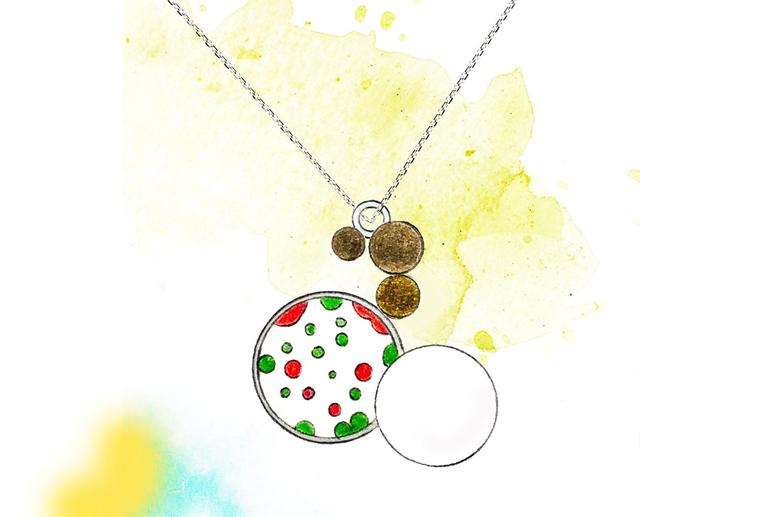 设计师李秀慧原创作品春s925银饰品项链耳环手链三件套装珠宝定制